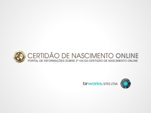 certidão de nascimento online